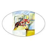 Equestrian - horse art Sticker (Oval 50 pk)