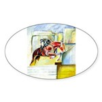 Equestrian - horse art Sticker (Oval 10 pk)