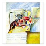 "Equestrian - horse art Square Car Magnet 3"" x 3"""