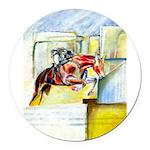 Equestrian - horse art Round Car Magnet