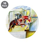 "Equestrian - horse art 3.5"" Button (10 pack)"