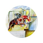 "Equestrian - horse art 3.5"" Button"