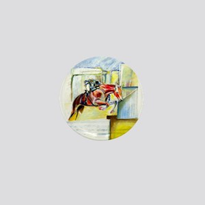 Equestrian - horse art Mini Button