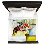 Equestrian - horse art King Duvet