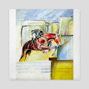 Equestrian - horse art Queen Duvet