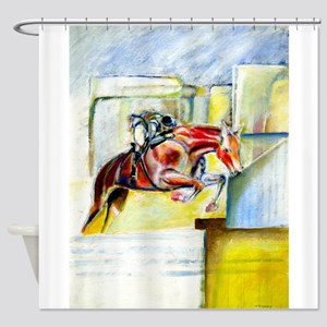 Equestrian - horse art Shower Curtain