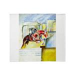 Equestrian - horse art Throw Blanket