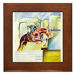 Equestrian - horse art Framed Tile