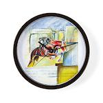 Equestrian - horse art Wall Clock