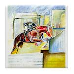 Equestrian - horse art Tile Coaster
