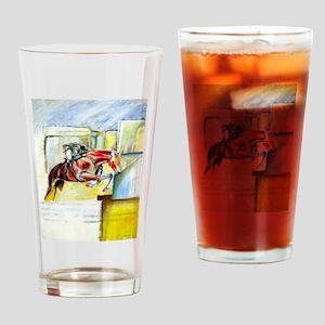 Equestrian - horse art Drinking Glass