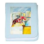 Equestrian - horse art baby blanket