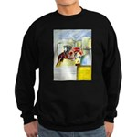 Equestrian - horse art Sweatshirt (dark)