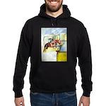 Equestrian - horse art Hoodie (dark)