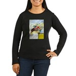 Equestrian - horse art Women's Long Sleeve Dark T-