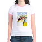 Equestrian - horse art Jr. Ringer T-Shirt