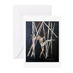 gymnastic dance art Greeting Cards (Pk of 10)