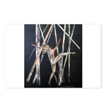 gymnastic dance art Postcards (Package of 8)