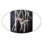 gymnastic dance art Sticker (Oval)