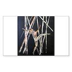 gymnastic dance art Sticker (Rectangle)