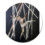 gymnastic dance art Round Car Magnet