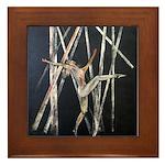 gymnastic dance art Framed Tile