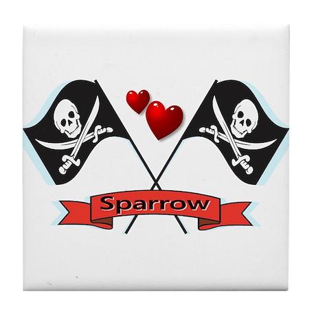 I heart Sparrow Tile Coaster