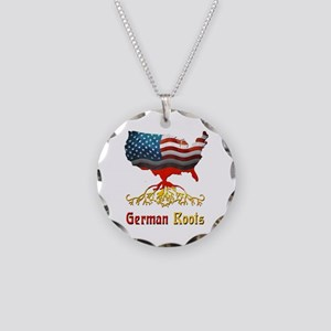 American German Roots Necklace Circle Charm