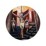 "running athletics fine art 3.5"" Button (100 pack)"