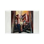 running athletics fine art Rectangle Magnet (100 p