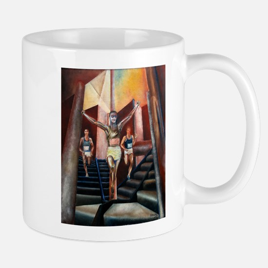 running athletics fine art Mug