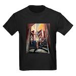 running athletics fine art Kids Dark T-Shirt