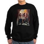 running athletics fine art Sweatshirt (dark)