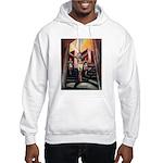 running athletics fine art Hooded Sweatshirt
