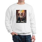running athletics fine art Sweatshirt