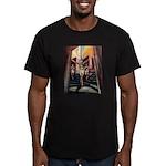 running athletics fine art Men's Fitted T-Shirt (d