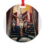running athletics fine art Round Ornament