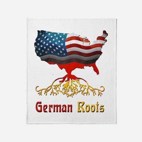 American German Roots Throw Blanket