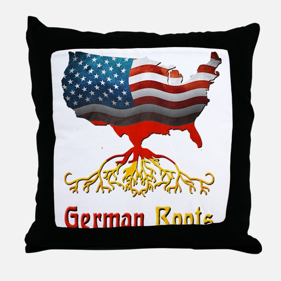 American German Roots Throw Pillow