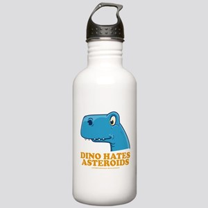 Dino hates asteroids, in Blue Stainless Water Bott