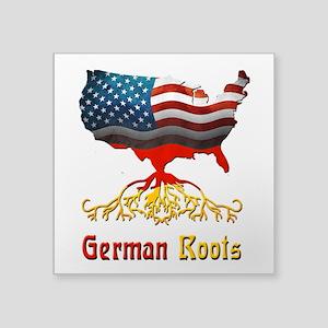 "American German Roots Square Sticker 3"" x 3&q"