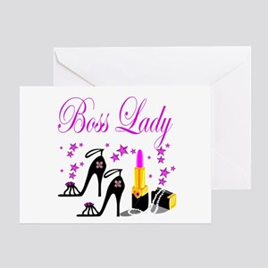 Female boss birthday greeting cards cafepress boss lady greeting card m4hsunfo