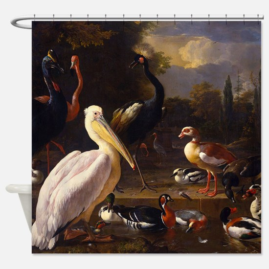 Hondecoeter The Floating Feather Shower Curtain