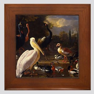 Hondecoeter The Floating Feather Framed Tile