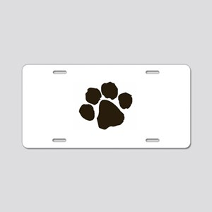 Paw Aluminum License Plate
