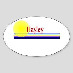 Hayley Oval Sticker