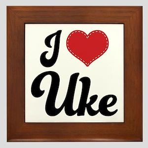 I Heart Uke Framed Tile