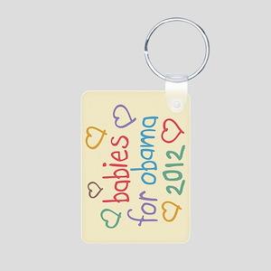 Babies For Obama Aluminum Photo Keychain