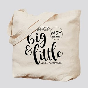 Big and Little Personalized Tote Bag