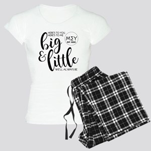 Big and Little Personalized Women's Light Pajamas